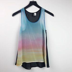 H&M Divided • Ombré Rainbow Sheer Tank Top